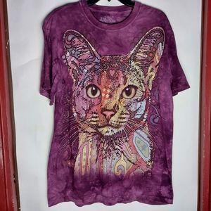 The Mountain Cat Purple Unisex T-Shirt SZ M